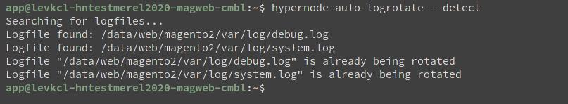 logrotate filesize before